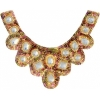 Motif Sequin/beads 27x11.5cm U Shape with crystal stones Gold